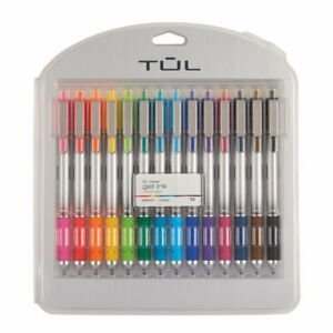 Tul Retractable Gel Pens Bold Point 1 0 Mm Silver Barrel Assorted 14 pack