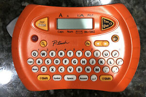 Brother P touch Pt 70 Label Thermal Printer Maker Orange Very Nice With Tape