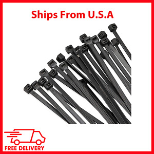 Cable Zip Ties Heavy Duty Ultra Strong Plastic With 50 Pounds Tensile Strength
