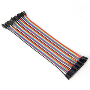 10cm 2 54mm Female To Female Wire Jumper Cable For Arduino Breadboard F bp