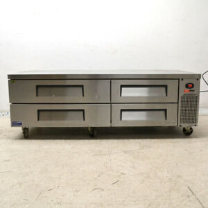 Turbo Air Tcbe 72sdr n Refrigerated Chef Base Refrigerator Cooler 4 drawer 72