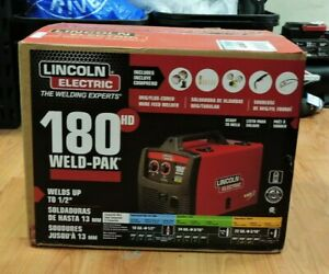 ma3 Lincoln Electric 180hd Weld Pak K2515 1 Mig Wire Feed Welder Black red