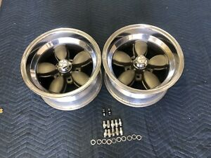 Vintage Pair Of Real American Racing Daisy Wheels 15x8 5 Chevy 5 On 4 3 4