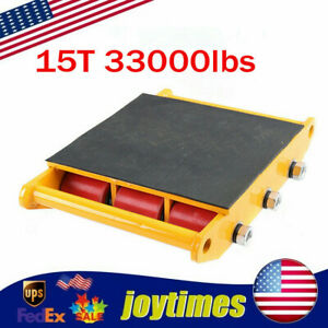 15 Ton 33000lbs Industrial Machinery Mover Dolly Skate Roller Heavy Equipment