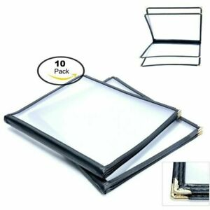 10 Pack 4 Page Fold 8 View Menu Covers Book For Restaurant Cafe 8 5 X 11 Inch