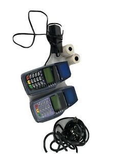 Verifone Omni 5100 3730 vx510 Pos Credit Card Terminal With Power Adapter Lot 2