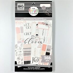 The Happy Planner Sophisticated Florals Sticker Book Me My Big Ideas Mambi
