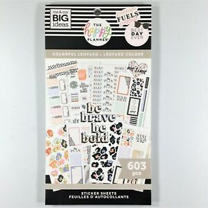 The Happy Planner Colorful Leopard Sticker Book Me My Big Ideas Mambi