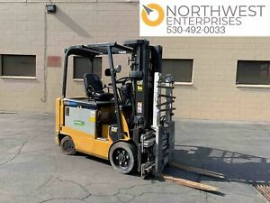 2007 Cat E6000 4050lbs Electric Forklift W Charger
