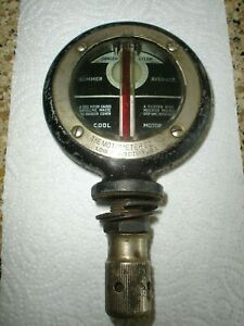 Antique Boyce Moto Meter Standard The Motometer Co Early 1900s Brass Nickle