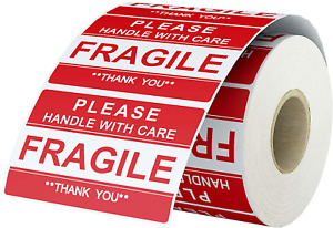 Labelchoice 2 X 3 Fragile Stickers Please Handle With Care fragile thank You W