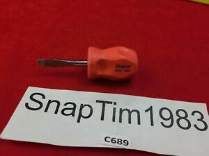 Snap On Tools Sgd1 Flat Slotted Stubby Screwdriver