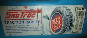 Tire Snow Chains Traction Cables 1433 10 Case Peerless Snotrac