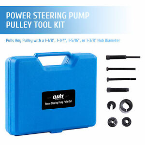 Omt 7pc Power Steering Pump Pulley Installer Remover Tool Set For Gm Ford More