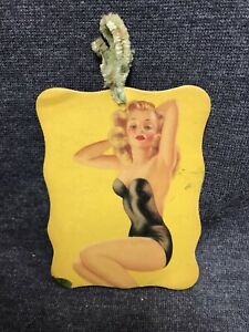 Vintage Glamorette Judy Pin Up Rare Auto Travel Fragrance Rear View Mirror