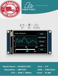 New Intelligent Smart Usart Uart Spi Touch Tft Lcd Module Display Free Shipping