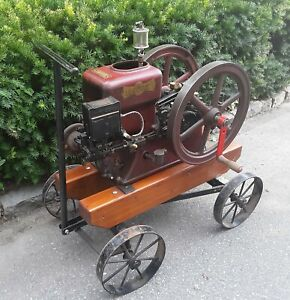 economy 1 3 4 H p Hit And Miss Engine With Cart Built 1927