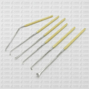 Nerve Root Penfield Dissector Neuro Spinal Orthopedic Instruments Set Of 6