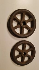 Antique Cast Iron Wagon Wheel Water Valvue Control Knobs Steampunk Rustic