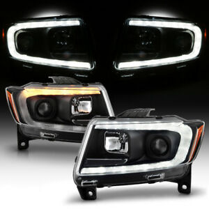 Switchback Hid Xenon Projector Headlights For 2011 2013 Jeep Grand Cherokee