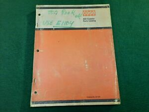 Case 450 Crawler Parts Catalog N0 A1104 Serial Numbers 3038436 And After