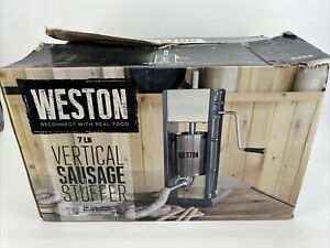 Weston 7 Lb Vertical Sausage Stuffer Two speed Stainless Tubes Model 86 0701 w