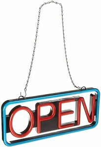 Business Large Led Open Hanging Bright Sign Blinking Feature Remote Control