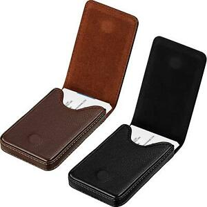 2 Pieces Business Card Holder Business Card Wallet Pu Leather Business Card New