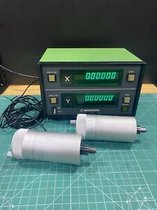 2 Mitutoyo 164 114 Micrometer Head With 164 735 Dro Digital Readout