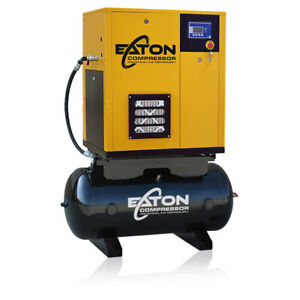 7 5 Hp Rotary Screw Air Compressor With 60 Gallon Tank 3 Phase Fixed Speed