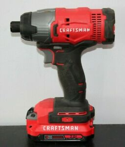 Craftsman Cmcf800 20v Impact Driver With Battery 081chj