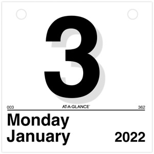 At a glance today Is Daily Wall Calendar Refill 6 X 6 Jan dec K15022