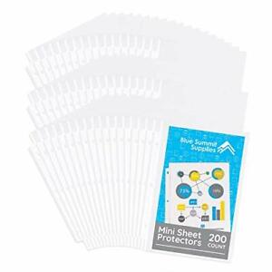 Blue Summit Supplies Mini Sheet Protectors 5 5 X 8 5 Inch Page Size Opening Cl
