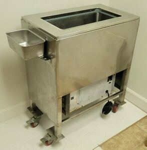 Delfield Ice Cream Dipping dip Cabinet W Wheels Rolling 120v Stainless W Wash