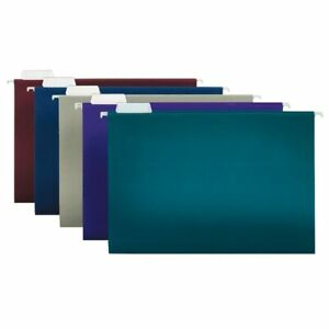 Office Depot Brand 2 tone Hanging File Folders Legal Size Assorted Colors 25pk