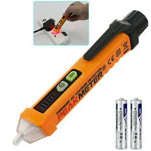 Ac Non contact Test Pen Voltage Digital Detector Tester W Led Indicator Beeper