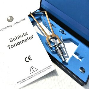 Tonometer Schiotz With Instruction Manual And Free Shipping Worldwide Optometry