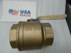 3 Inch Full Port Brass Ball Valve Lead Free Fip Thread Tfp600a lf 400 Cwp Nibco