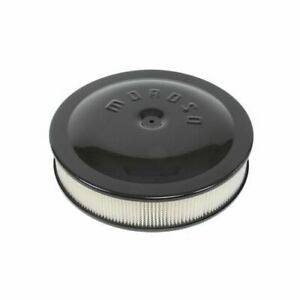 Moroso Low Profile Racing Air Cleaner 14 Dia Round White Paper Element 65904