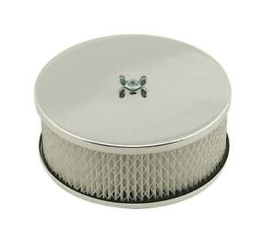 Mr Gasket Easy Flow Air Cleaner 6 1 2 Dia Round White Paper Element 1485