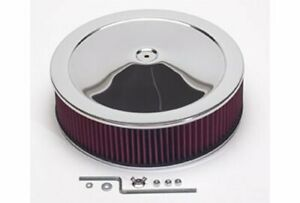 Summit Racing Chrome Air Cleaner With Reusable Filter 14 Dia Round 239442