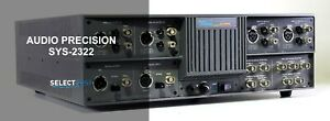 Audio Precision Sys 2322 Dual Domain Analog And Dsp Audio Analyzer ref 077g