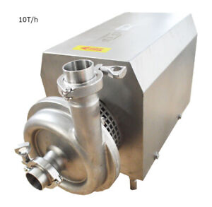 110v 304 Stainless Steel Food Centrifugal Pump Beverage Sanitary Pump 10 Ton h