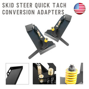 Universal Skid Steer Quick Tach Attach Conversion Adapter Plate Weld On Qtk New