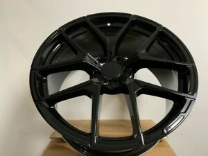 19 Staggered Glossy Black Y Spoke Style Rims Wheels For Mercedes Benz Amg