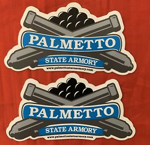 Original Palmetto State Armory Vinyl Sticker Decal AR Tactical Rifle LOT OF 2 $3.85