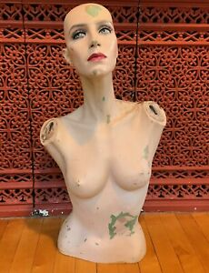 Vintage Adel Rootstein Mannequin Torso Rare Rooted Lashes