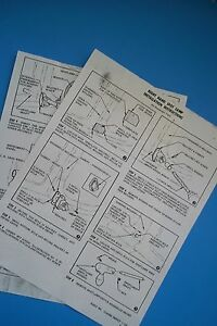 1955 1956 1957 Chevrolet Spotlight Instructions And Template