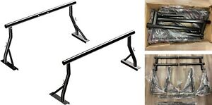 800lb Extendable Low Profile Steel Pick Up Truck Ladder Rack Lumber Two Bar Set