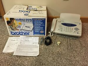 Brother Intellifax 775 Plain Paper Fax Phone Copier W Manual Cords Works
